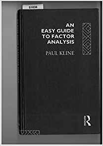 An Easy Guide to Factor Analysis 1 ED by Paul Kline 0415094895