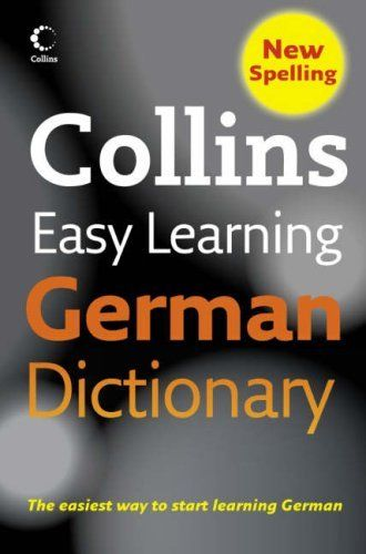 Collins Easy Learning German Dictionary 4 ED by Collins 0007253524