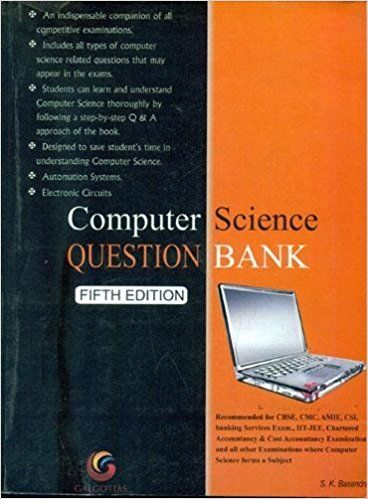 Computer Science Question Bank 5 ED by Basandra K Suresh 8175155159