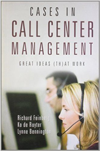 Cases in Call Center Management by Ko de Ruyter 8179924424